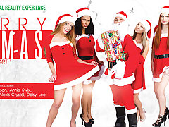 Alexis Crystal  Anna Swix  Daisy Lee  Gina Gerson  Isabella Chrystin in Merry XXXmas - part 1 - VRBangers