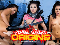 Adriana Chechik in Zombie Slayers: Origins - WankzVR