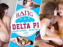 Alison Rey  Nicole Clitman in Bang Delta Pi - WankzVR