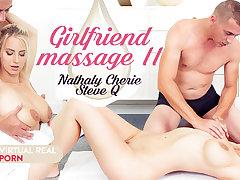 Nathaly Cherie  Steve Q in Girlfriend massage II - VirtualRealPorn